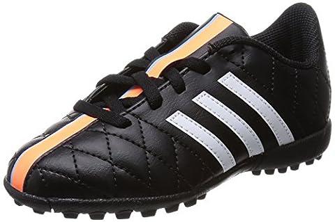 adidas 11Questra TF, Unisex-Kinder Fußballschuhe, Schwarz (Core Black/Ftwr White/Flash Orange