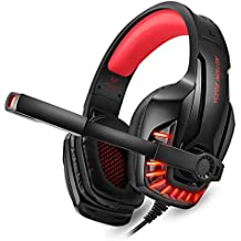 Kotion Each G9100 Gaming Headphones with Mic and LED Light (Black/Red)