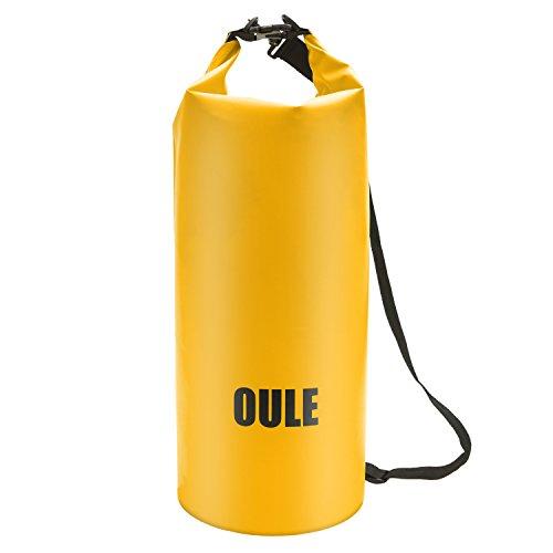 Packsack Drybag Wasserdichte Tasche aus Strapazierfähige LKW-Plane ca. 25 Liter in GELB
