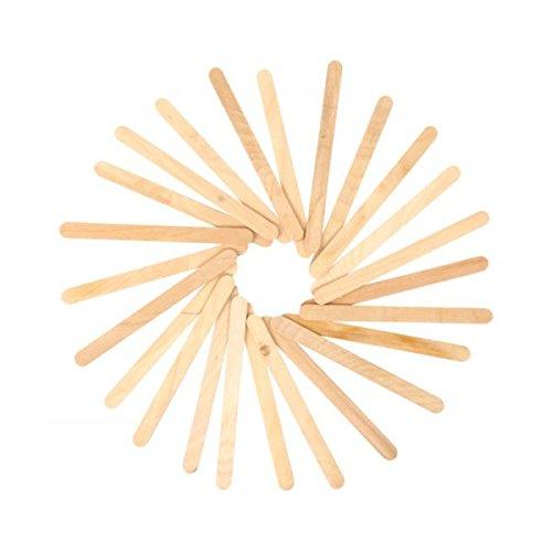 i-mondi Bastelstäbchen aus Holz, natur, 50 Stück, Größe: 114x10x2 mm