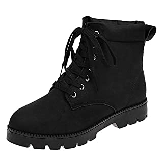 UFACE Damen Damen Mode Flache Ankle Lace-up Kurze Stiefel Bootie Schuhe