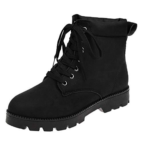 343f30648 Beladla Zapatos Mujer Invierno Botas De Cuero Cortas De Moda Zapatillas De  Mujer De Hebilla De