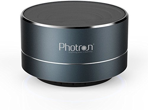Photron P10 Wireless 3W Super Bass Mini Metal Aluminium Alloy Portable Bluetooth Speaker with Mic (Deep Cobalt)