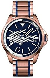Lacoste Women's Blue Dial Stainless Steel Band Watch - 201
