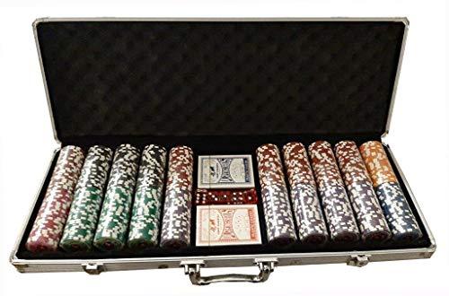 Set Valigetta Completo 500 Fiches da 14 Grai Private Poker Tournament