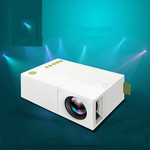Video-Projektoren Porjector, Heim-Theater 1080P, LED LCD Mini Projektor Portable Movie Projector Support HDMI, USB, SD Card, VGA, AV für Home Cinema, TV, Laptops, Spiel, Smartphone & iPad (Weiß).