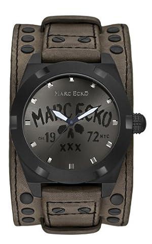 Marc Ecko Men's The Rock Sunray Gunmetal Dial Black Case E13514G1