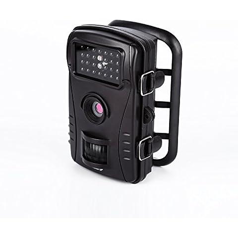 LESHP Cámara de Caza Exteriores 8MP 720P HD Lapso de Tiempo 10m 70° Ángulo Amplio Visión Nocturna con 26 IR LEDS 2.4