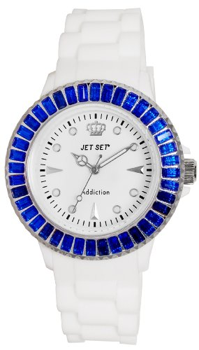 Jet Set J10014-361Addiction–Ladies Watch–Analogue Quartz–White Dial White Rubber Strap