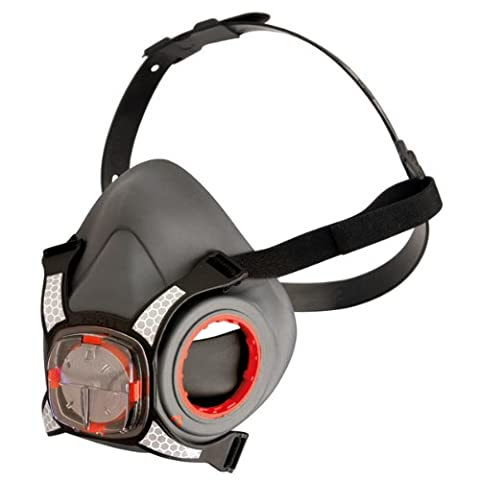 THE NEW FORCE 8 mask, With Twin A1 Filters for Organic Gases plus secondary dust protection. (Includes disposable Ear Plugs for the Noisy Workplace).
