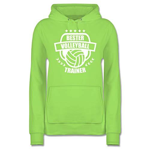 Volleyball - Bester Volleyball Trainer - M - Limonengrün - JH001F - Damen Hoodie