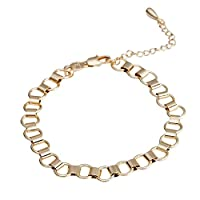 BeesClover Women Fashion Stylish Elegant Hollow Out Bracelets Concise Hand Chain Jewelry gold