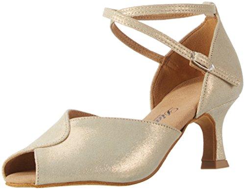 Diamant - Damen Tanzschuhe 119-077-330, Scarpe da ballo Donna Gold (Gold Reflex)