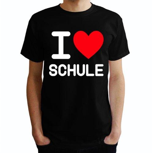I love Schule Herren T-Shirt Schwarz