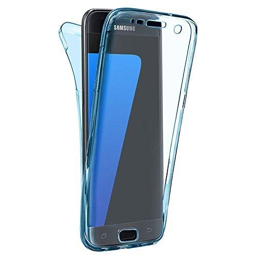 Preisvergleich Produktbild N4U Online - Ganzkörper (Rückseite & Vorderseite) TPU Gel Schützend Durchsichtig Hülle Cover Für Samsung Galaxy A5 (2017) - Blau