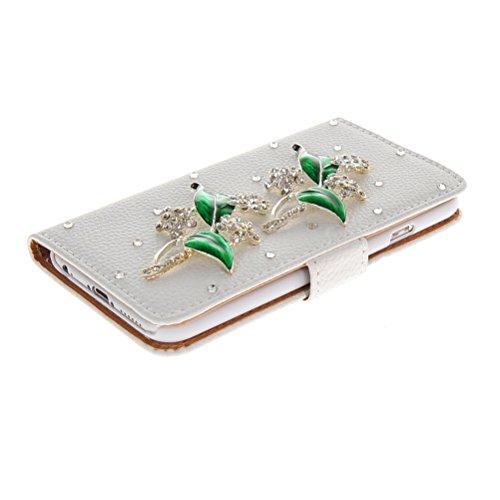 MOONCASE Bling Diamond Coque en Cuir Portefeuille Housse de Protection Étui à rabat Case pour Apple iPhone 6 ( 4.7 inch ) 13