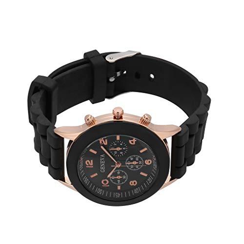 Armbanduhr jungen Liusdh Uhren Geneva Jelly Silicone Strap Lässige Quarzuhr uhr(G,Einheitsgröße)
