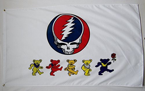 Grateful Dead Dancing Bears Flagge 3 'x 5' Indoor Outdoor Rock (Grateful Dead Dancing Bear)