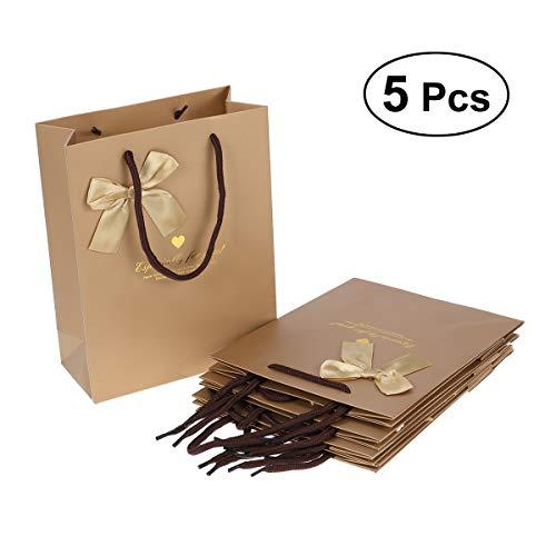 eschenk-Beutel mit Griffen Süßigkeits-Schokoladen-Schmuck-Beutel Taschen für Partei-Hochzeits-Babyparty-Bevorzugungen, die Handtasche, Golden kaufen ()