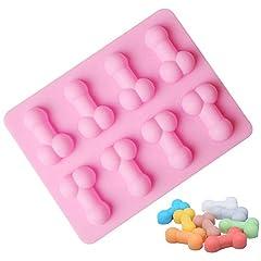 Idea Regalo - Stampo per dolci in silicone Stampo da forno forma divertente Teglia decorata per caramelle e biscotti al budino di sapone al cioccolato per festa singola di compleanno