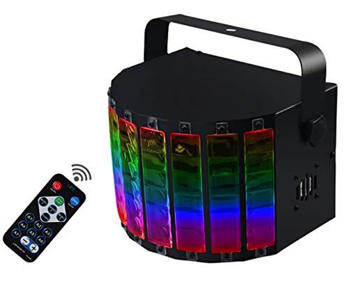 WuZhong W LED-PAR-Licht 3-Modus-LED-Blitzlicht DMX-Controller Lichteffekte Partybeleuchtung Scheinwerfer Blitzgeräte Bühnenbeleuchtung mit Fernbedienung für Party Bar Birthday