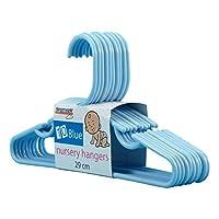 Hangerworld Blue Plastic 29cm Coat Hangers with Trouser/Skirt Bar - For Baby & Toddler Clothes, Pack of 40