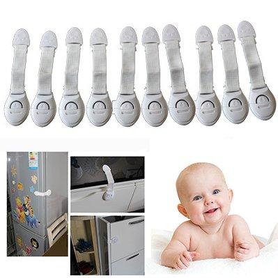 Cisixin 10 Stück Baby Sicherheit Sperren Kindersicherheit Verriegelungen Sicherheitsschlösser für Kühlschrank Schublade Sperrt