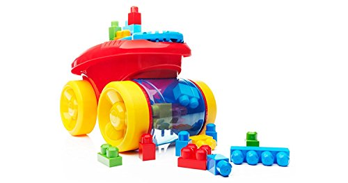 Mega Brands - Apisonadora tragabloques, juego de construcción, color rojo (Mattel CNG23)