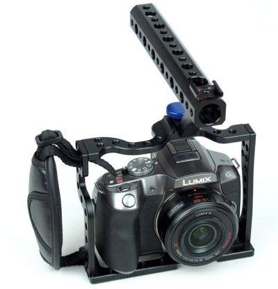 Preisvergleich Produktbild Gowe DSLR G5G6basplate Top Griff Käfig für Panasonic DMC G5G6