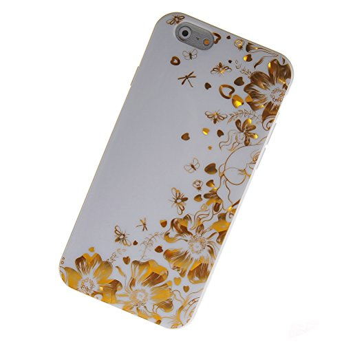 MOONCASE Gel TPU Silicone Housse Coque Etui Case Cover pour Apple iPhone 6 ( 4.7 inch ) Blanc 03