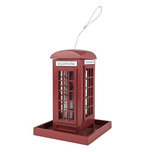 Vogelfutter Futterstelle The phone house, Englische Telefonzelle Vogel Futtervilla -