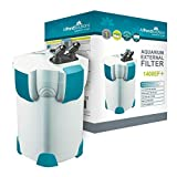 All Pond Solutions Aquarium External Fish Tank Filter 1400 Litre/H Plus 9W UV Light, Filter Media