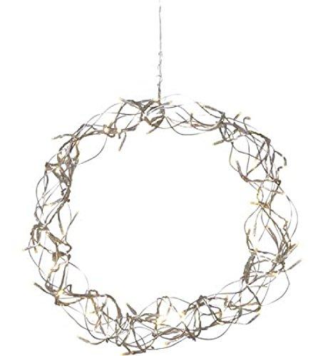 fenster beleuchtung Lichterkranz 80 LED warm weiß Curly 30cm Lichtkranz Kranz