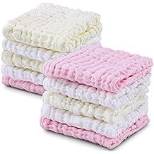 Muselina bebe algodon, Toallas suaves de muselina para bebés, varias funciones