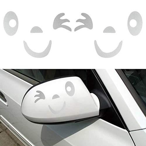 DEBBD Lächeln-Gesichts-Entwurfs-starker Dekorations-Aufkleber der Sichtauswirkungs-3D für Auto-Seitenspiegel Rearview DIY