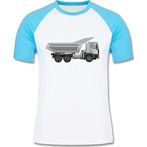 Andere Fahrzeuge - Muldenkipper Wannenkipper - zweifarbiges Baseballshirt  für Männer Weiß/Türkis
