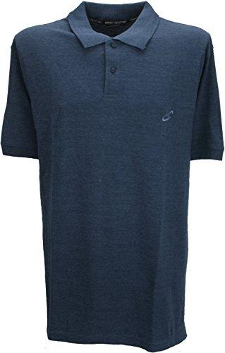 Perfect Collection Herren Poloshirt blau Denim-blau Gr. XXL, Denim-blau (Pique Short Sleeve Rugby)