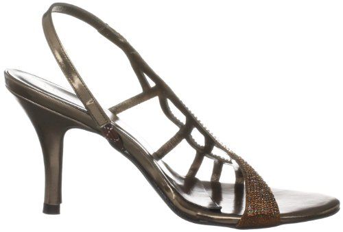 Unze Evening Sandals, Sandali col tacco donna Marrone (Braun (L18206W))
