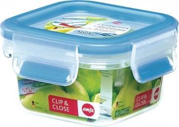 emsa butterdose Frischhaltebox 4er Set Emsa Clip & Close 3D Perfect Clean, Quadratisch, 4 x 0,25 Liter