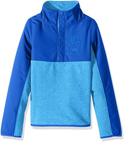 Under Armour Mädchen Phenom Fleece 1/2Snap, Mädchen, Mako Blue (983)/Mako Blue, Jugend Large Half Zip Lightweight Pullover