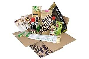 Reishunger Sushi Vorrats-Box (8-teilig, für bis zu 4 Personen) Komplett-Set mit Original Japanischen Zutaten - perfekt auch als Geschenk