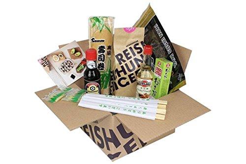 Reishunger Sushi Vorrats-Box (8-teilig, für bis zu 8 Personen) Komplett-Set mit Original Japanischen Zutaten - perfekt auch als Geschenk