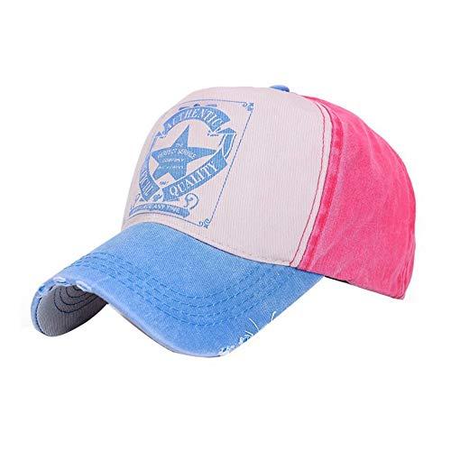 DAMENGXIANG Sombrero De Moda Unisex De Moda De Verano Carta De Impresión  Agujeros Hombres Mujeres Ajustable d8306b4c397