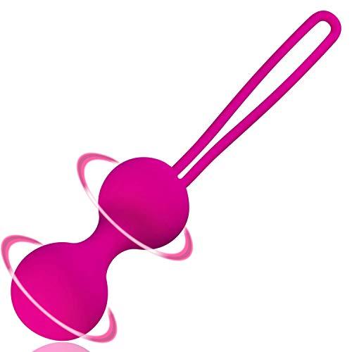 Liebeskugeln CASSIS aus Silikon • Duo Kugeln für Beckenbodentraining • Stimulation & Training von Beckenboden • vaginales Sexspielzeug für Sie