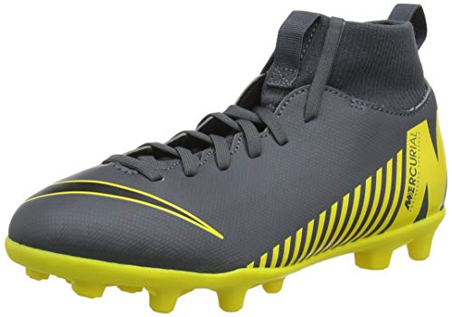 48da6f0e5f7 Nike Unisex-Kinder Superfly 6 Club MG Fußballschuhe Grau (Dark Grey Black