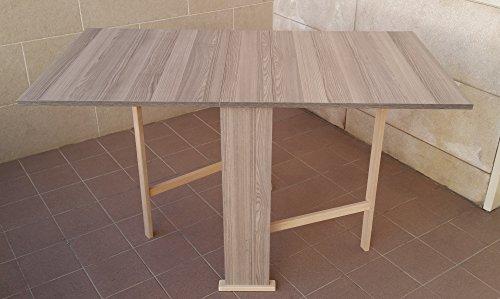 Liberoshopping tavolo susanna pieghevole formica cm.75x140 (rovere grigio)