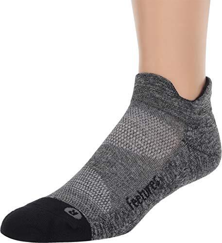 Kissen Tab Socke (Feetures Elite Light Kissen No Show Tab Grau L (B(M)) US)