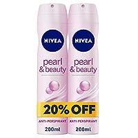 NIVEA, Deodorant Female, Pearl & Beauty, Spray, 2 x 200ml