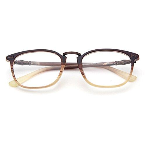 Highdas Hommes Femmes Lens Clear Geek / Nerd Retro Lunettes X6