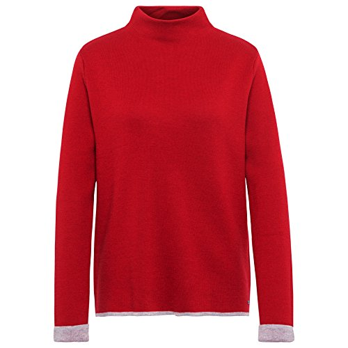 TOM TAILOR Damen Pullover Doubleface Sweater Scooter red